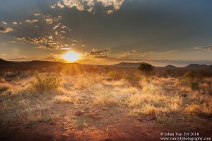 Van Zyl Photography - Safari Moments Portfolio Gallery Category Professional Photography - Sunrise when on African Safari Tour